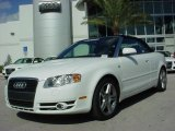 2008 Ibis White Audi A4 2.0T Cabriolet #1172293