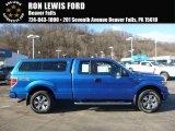 2014 Blue Flame Ford F150 STX SuperCab 4x4 #117773353