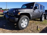 2017 Granite Crystal Metallic Jeep Wrangler Unlimited Sport 4x4 #117841794
