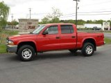 2004 Flame Red Dodge Dakota SLT Quad Cab 4x4 #11772659