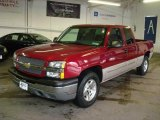 2005 Sport Red Metallic Chevrolet Silverado 1500 LS Extended Cab 4x4 #11771057