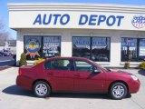 2007 Sport Red Metallic Chevrolet Malibu LS Sedan #11764459