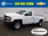 2017 Summit White Chevrolet Silverado 1500 WT Regular Cab 4x4 #117867416