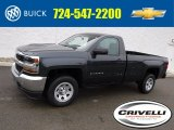 2017 Graphite Metallic Chevrolet Silverado 1500 WT Regular Cab 4x4 #117867415