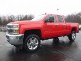 2017 Red Hot Chevrolet Silverado 2500HD Work Truck Double Cab 4x4 #117890776