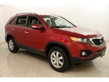 2011 Spicy Red Kia Sorento LX AWD #117910666