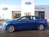 2017 Lightning Blue Ford Fusion SE #117910769
