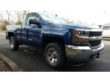 2017 Deep Ocean Blue Metallic Chevrolet Silverado 1500 LS Regular Cab 4x4 #117910425
