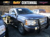 2011 Imperial Blue Metallic Chevrolet Silverado 1500 Extended Cab 4x4 #117910516