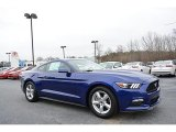 2016 Deep Impact Blue Metallic Ford Mustang V6 Coupe #117937072