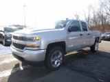 2017 Silver Ice Metallic Chevrolet Silverado 1500 Custom Double Cab 4x4 #117987282