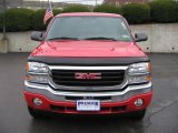 2005 Fire Red GMC Sierra 1500 SLE Extended Cab 4x4 #1149729