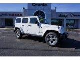 2017 Bright White Jeep Wrangler Unlimited Sahara 4x4 #118008512