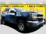 2017 Deep Ocean Blue Metallic Chevrolet Silverado 1500 WT Regular Cab #118032349