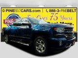 2017 Deep Ocean Blue Metallic Chevrolet Silverado 1500 LTZ Crew Cab 4x4 #118032329