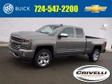 2017 Pepperdust Metallic Chevrolet Silverado 1500 LTZ Double Cab 4x4 #118061341