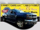 2017 Deep Ocean Blue Metallic Chevrolet Silverado 1500 LT Crew Cab 4x4 #118094549