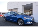 2017 Lightning Blue Ford Fusion SE #118094659