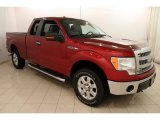 2013 Ruby Red Metallic Ford F150 XLT SuperCab 4x4 #118156970