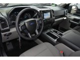 2017 Ford F150 XLT SuperCrew Earth Gray Interior