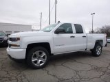2017 Summit White Chevrolet Silverado 1500 Custom Double Cab 4x4 #118176363