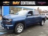 2017 Deep Ocean Blue Metallic Chevrolet Silverado 1500 LT Crew Cab 4x4 #118176253