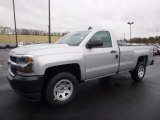 2017 Silver Ice Metallic Chevrolet Silverado 1500 WT Regular Cab 4x4 #118221377