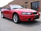 2001 Laser Red Metallic Ford Mustang Cobra Convertible #11796714