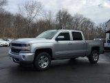 2017 Silver Ice Metallic Chevrolet Silverado 1500 LT Crew Cab 4x4 #118339079