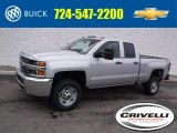 2017 Silver Ice Metallic Chevrolet Silverado 2500HD Work Truck Double Cab 4x4 #118361814