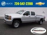 2017 Silver Ice Metallic Chevrolet Silverado 2500HD Work Truck Crew Cab 4x4 #118361811