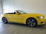 2016 Triple Yellow Tricoat Ford Mustang V6 Convertible #118395777
