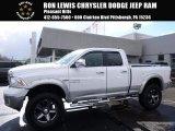 2014 Bright White Ram 1500 Laramie Quad Cab 4x4 #118395854