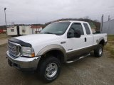 2002 Oxford White Ford F250 Super Duty Lariat SuperCab 4x4 #118410716