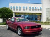 2006 Redfire Metallic Ford Mustang V6 Deluxe Coupe #11803802