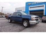 2017 Deep Ocean Blue Metallic Chevrolet Silverado 1500 LT Crew Cab 4x4 #118483045
