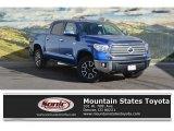 2017 Blazing Blue Pearl Toyota Tundra Limited CrewMax 4x4 #118538001