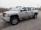 2010 Sheer Silver Metallic Chevrolet Silverado 1500 LS Crew Cab 4x4 #118566003