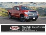 2017 Inferno Orange Toyota Tundra Limited CrewMax 4x4 #118575382