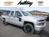 2017 Silver Ice Metallic Chevrolet Silverado 1500 Custom Double Cab 4x4 #118694913