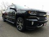 2017 Black Chevrolet Silverado 1500 LTZ Crew Cab 4x4 #118722333