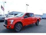 Race Red Ford F150 in 2017