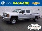 2017 Silver Ice Metallic Chevrolet Silverado 2500HD Work Truck Crew Cab 4x4 #118732296