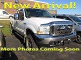 2004 Oxford White Ford F250 Super Duty Lariat SuperCab 4x4 #118732284
