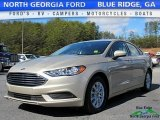 2017 White Gold Ford Fusion S #118731944
