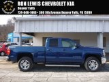 2017 Deep Ocean Blue Metallic Chevrolet Silverado 1500 LT Double Cab 4x4 #118762922