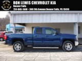 2017 Deep Ocean Blue Metallic Chevrolet Silverado 1500 LT Double Cab 4x4 #118762919