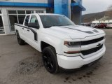 2017 Summit White Chevrolet Silverado 1500 Custom Double Cab 4x4 #118826439