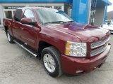 2013 Deep Ruby Metallic Chevrolet Silverado 1500 LTZ Crew Cab 4x4 #118872379