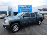 2009 Blue Granite Metallic Chevrolet Silverado 1500 LT Crew Cab 4x4 #118872490